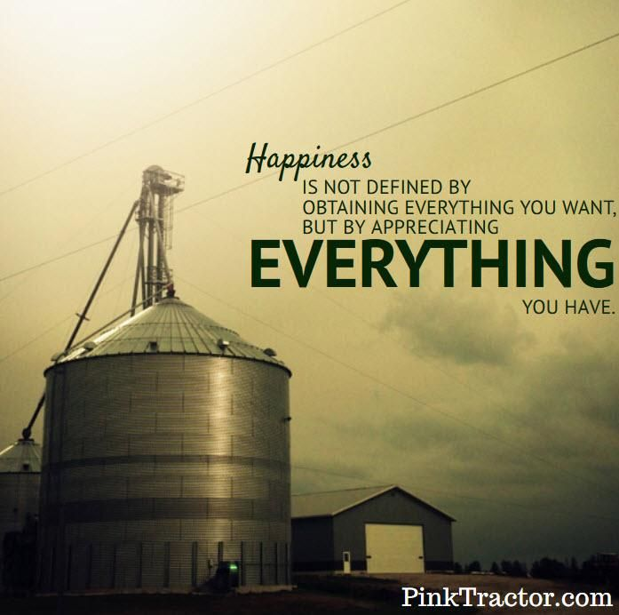 This is happiness and it's true on a #farm http://www.pinktractor.com pic.twitter.com/uSpGpI8o91