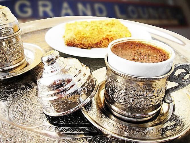 Freshly brewed coffee at the Grand Lounge in Oman.   http://theculturetrip.com/middle-east/oman/articles/muscat-s-10-best-cultural-restaurants-great-dining-spots-in-oman/