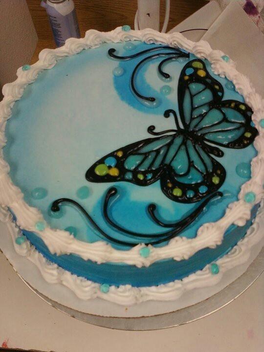 Dairy Queen Log Cake Designs : Dairy Queen Cake butterflies My Dairy Queen Cakes ...