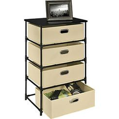 Ameriwood 1 x Ameriwood 4 Bin Storage End Table Natural