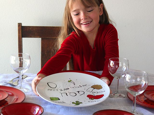 Homemade Passover Seder Plate
