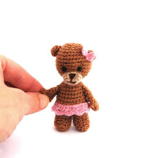$23.72 ballerina BEAR, little dancer bear for little girls, adorable plush #ballerina, creative toy pink ballet birthday, #dancing animal, ballet #art by crochAndi