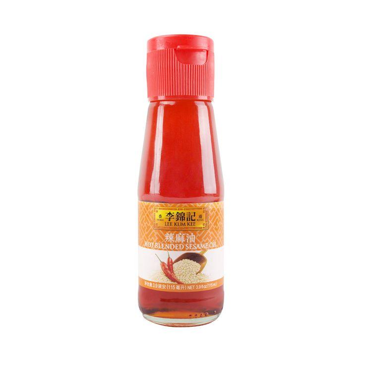 Lee Kum Kee Hot Blended Sesame Oil, 3.9 oz   李锦记辣麻油