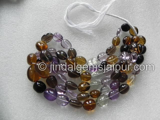 Multi Stone Plain Oval Nuggets .