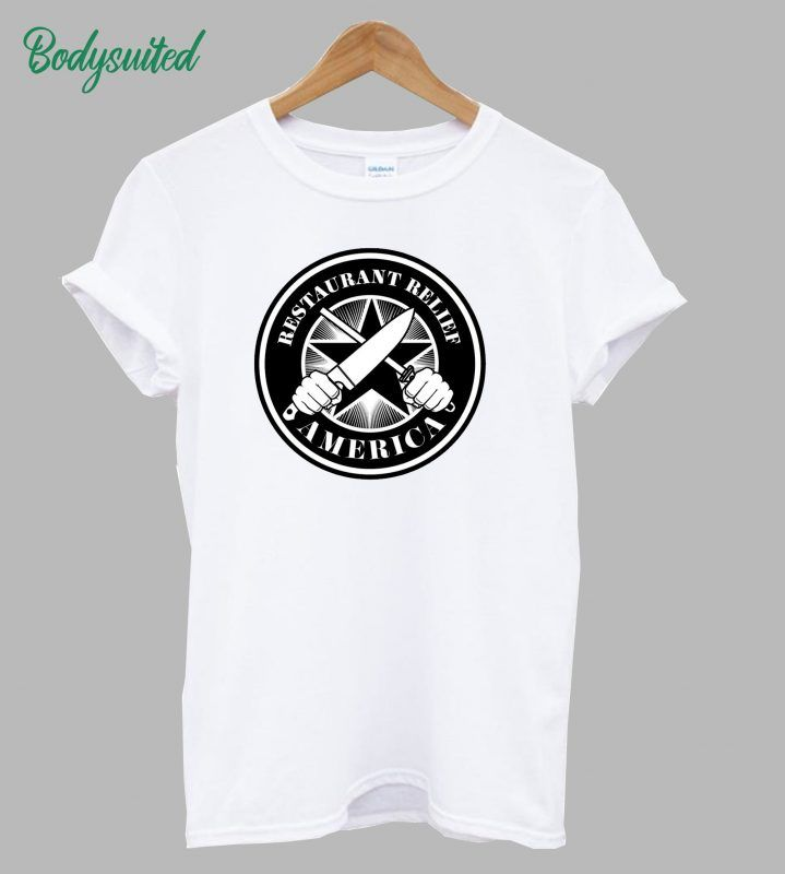 Rerf Restaurant Relief America Logo T Shirt