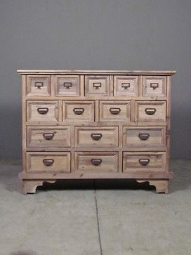 morris park cabinet - eclectic - cabinet and drawer organizers - austin - red - modern lines . vintage finds
