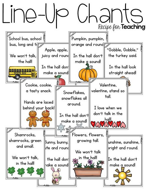 Cheers For Elementary Classrooms ~ Best ideas about line up chants on pinterest