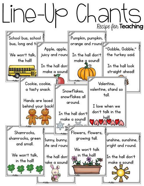 https://www.teacherspayteachers.com/Product/Line-Up-Chants-2044139