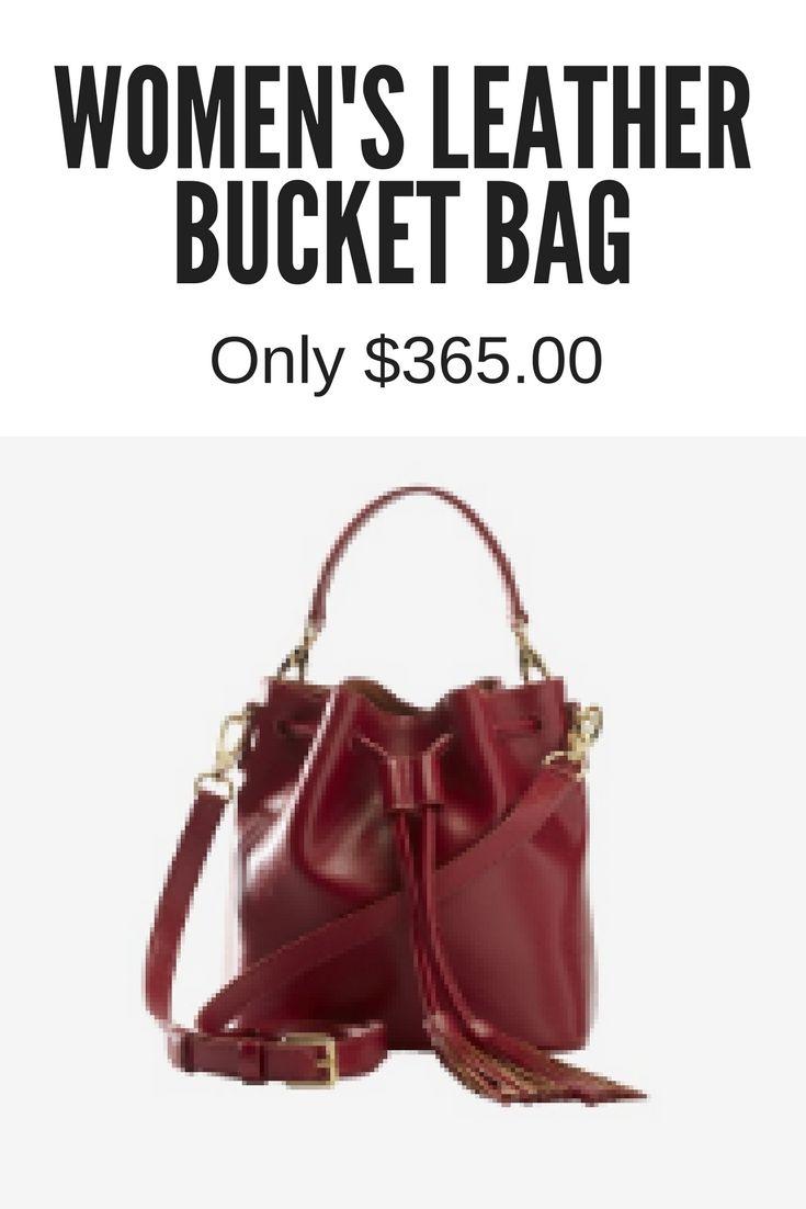 Women's Leather Bucket Bag. www.fiori.com.au
