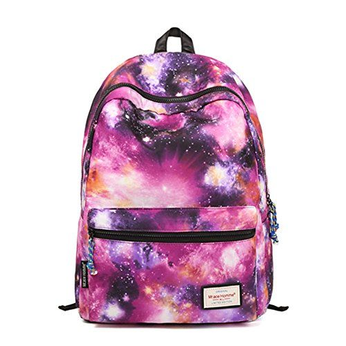 HotStyle TrendyMax Galaxy Pattern Vintage Style Unisex Fashion Casual School Travel Laptop Backpack Rucksack Daypack Tablet Bags (purple) - Click image twice for more info - See a larger selection of casual backpacks at http://kidsbackpackstore.com/product-category/kids-casual-backpacks/ - kids, kids backpack, school backpack, everyday backpack, school bag, gift ideas, teens backpacks.