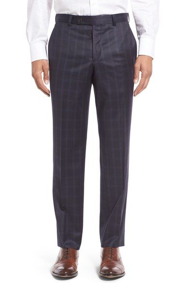 TED BAKER 'Jefferson' Flat Front Plaid Trousers. #tedbaker #cloth #
