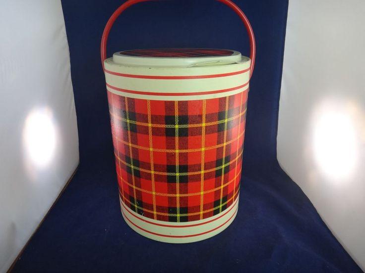 Vintage Scotch Plaid Picnic Cooler No. 532 with Original Box  | eBay