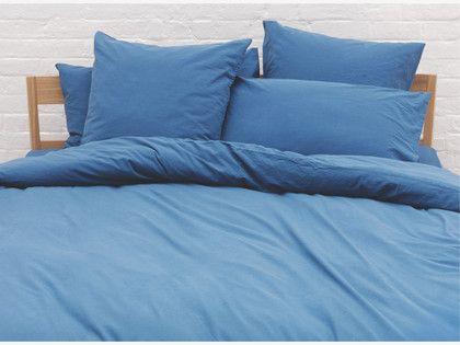 WASHED Blue single duvet cover