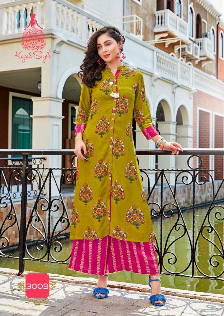 6e697955f2 fashion biba vol 3 by kajal style kurti with palazzo wholesaler in surat  cloth market - Krishna Creation