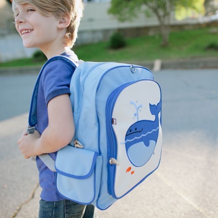 Lucas the Whale Big Kid Backpack: Official Beatrix New York Site