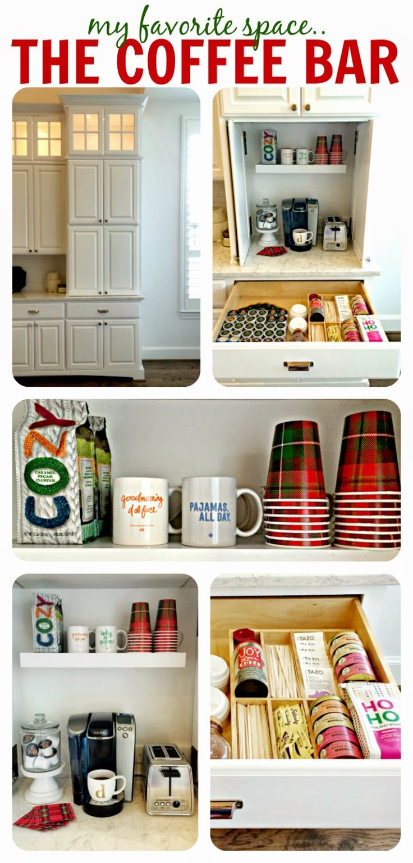 Garage style kitchen cabinets - Built In Coffee Bar Appliance Garage Aka The Best Invention Appliance Garagecabinet Inspirationcabin Kitchenscoastal