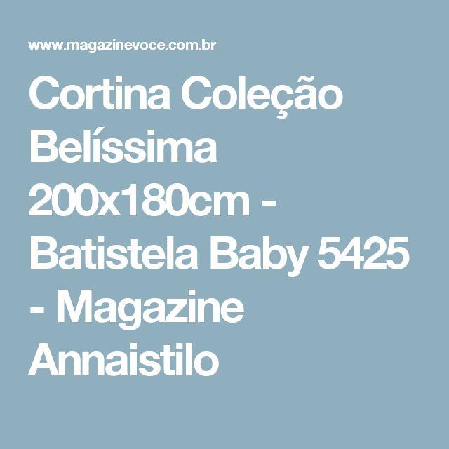 Cortina Coleção Belíssima 200x180cm - Batistela Baby 5425 - Magazine Annaistilo