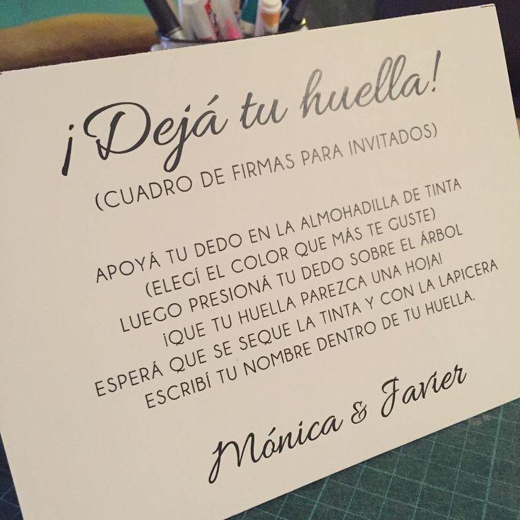 Cuadro de firmas para la boda de Mónica y Javier / Casamiento / Wedding / Dejá tu huella / Invitados / Amor / Recuerdo / By LAURA&DONNA / Envíos a todo el mundo / We ship worldwide / Follow us on Instagram @lauraydonnaec / Contact us lauraydonna@gmail.com