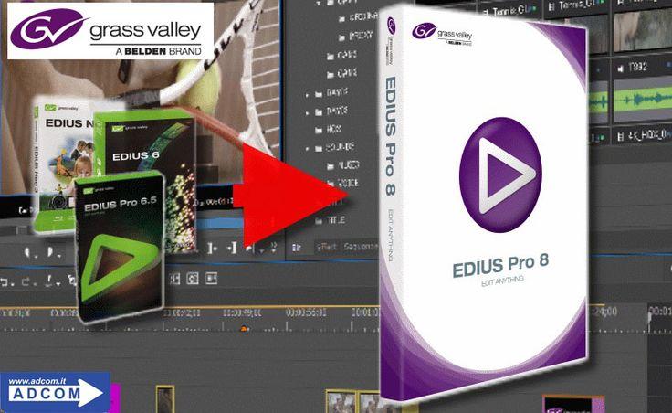 Grass Valley - Nuova versione 8.3 di EDIUS Acquistando EDIUS Pro 8 su www.adcom.it avrai la possibilità di scaricare gratuitamente l'aggiornamento 8.3 appena sarà disponibile. Questa nuova versione 8.3 permetterà di ottenere una fluidità nei movimenti rallentati mai vista prima, grazie ad una tecnologia di elaborazione completamente nuova. Info e caratteristiche: https://www.adcom.it/news.php?lang=it&idliv1=5&idn=374
