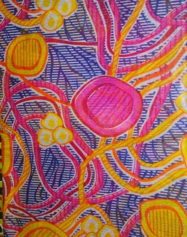 Tessuto cotone mt. 1,5 x 6 (Provenienza: Senegal)