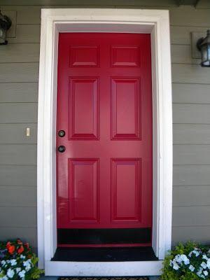 PAINTED FRONT DOOR | BlogHer Painting A Metal Door