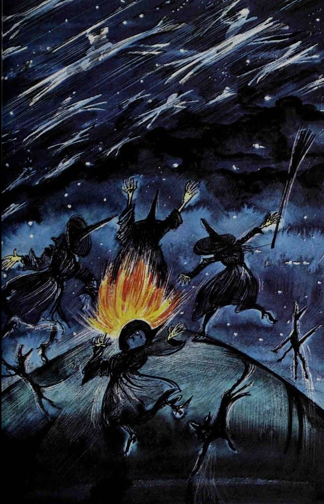 """""""Hallowe'en"""" from """"Festivals"""", an anthology compiled by Ruth Manning Sanders and illustrated by Raymond Briggs"""