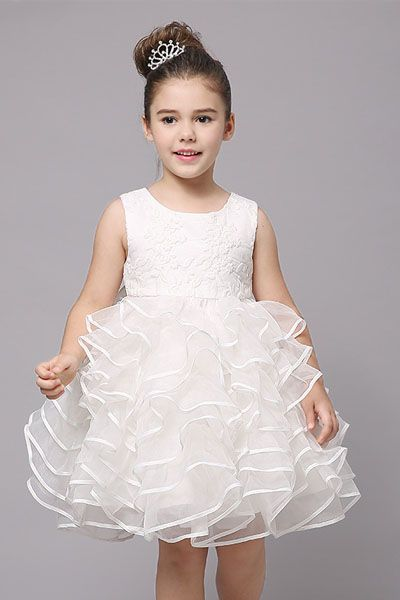 44ed7ceab2c US  89 Organza Flower Girl Dress with Ruffled Skirt Adorable organza dress  is absolutely precious for your flower girl on the big day!