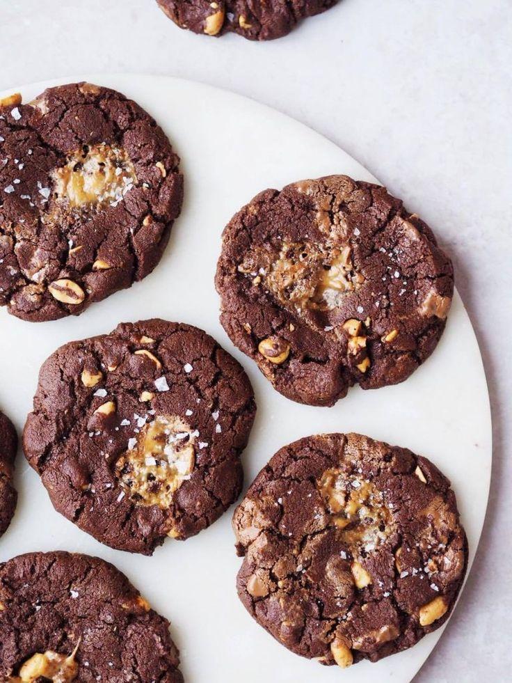 Mælkechokoladecookies med dumle og havsalt