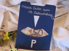 Parkscheibe - Geldgeschenke für Geburtstage basteln | Geldgeschenke basteln .de