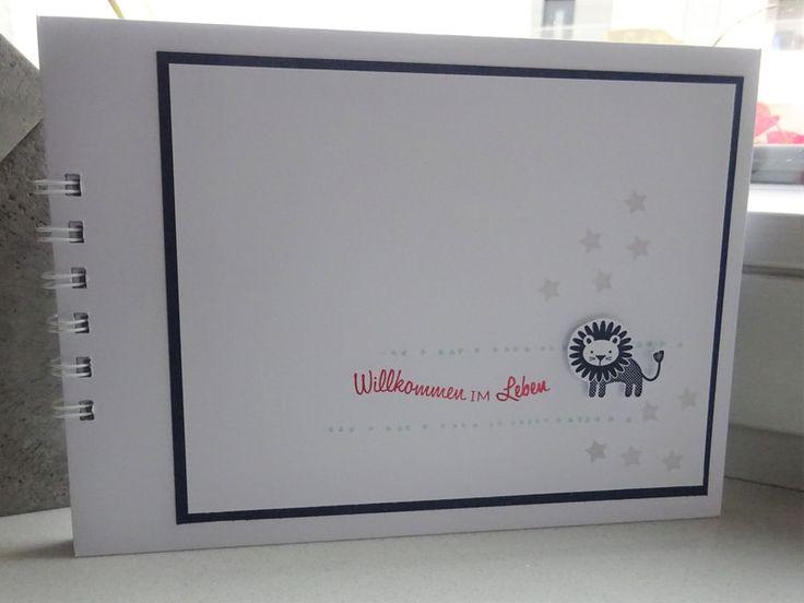 Fotoalbum & Gästebuch - Babyalbum / Gästebuch / Babyparty - ein Designerstück von szamie bei DaWanda