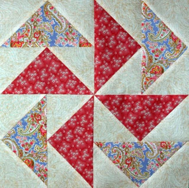FREE--Make Mp-Waste Flying Geese - Janet Wickell...Learn the Easy No-Waste Method for Flying Geese...How to Make No-Waste Flying Geese for Quilts...Each portion of a Flying Geese quilt pattern is a rectangular shape with a triangle sewn at each of its two ends, creating a peak at the unit's midpoint. Flying geese can be used alone to construct an entire quilt, although they're most often used in borders and accents.