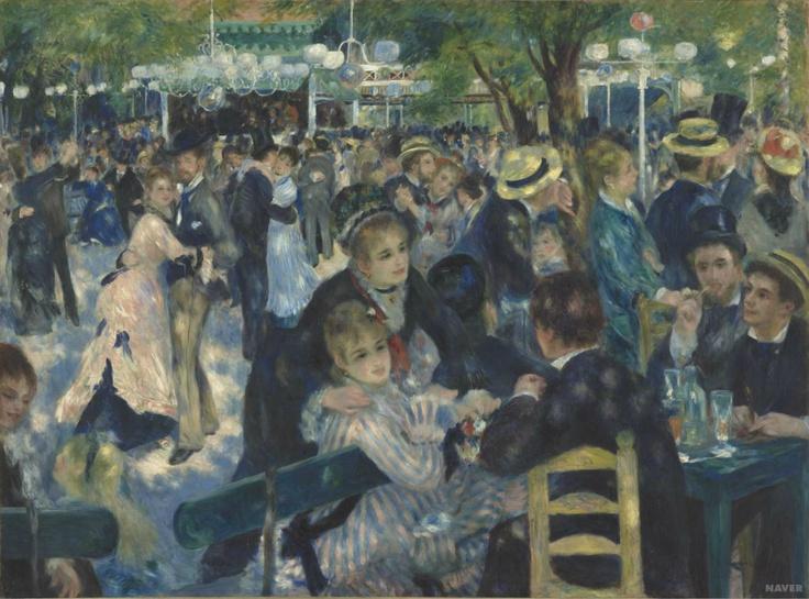 <물랭 드 라 갈래트의 무도회 (Bal du Moulin de la Galette, Montmartre)<-오귀스트 르누아르(Auguste Renoir)