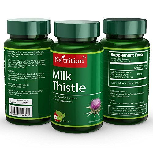 3 Bottles of Milk Thistle Extract Silybum Marianum  Provides Antioxidant Protection  200mg 80 Capsules Bottle  Total 240 Capsules >>> Want to know more, click on the image.