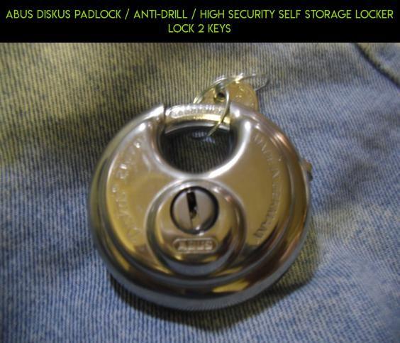 ABUS Diskus Padlock / ANTI-DRILL / HIGH SECURITY SELF STORAGE LOCKER LOCK 2 Keys #storage #gadgets #kit #racing #locker #tech #drone #products #technology #camera #plans #lock #fpv #parts #shopping