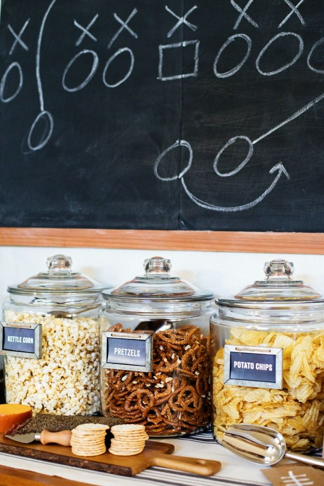 Self-Serve Game Day Snack Bar via A Night Owl >> #WorldMarket Game Day Essentials