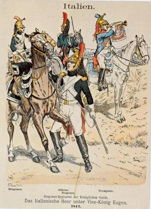 Garde d'Honneur - Dragons - Uniformes - 1812