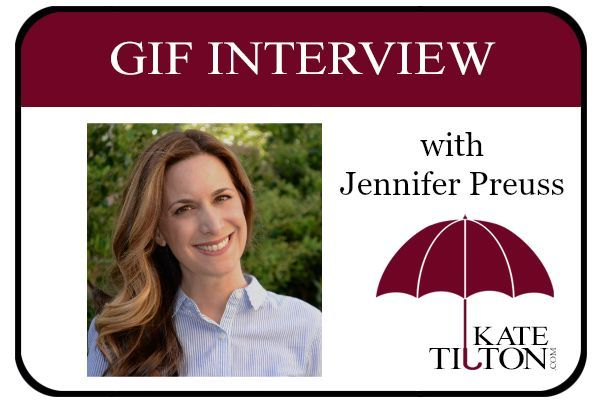 Author Jennifer Preuss shares her story in the form of gifs. :) - Kate Tilton