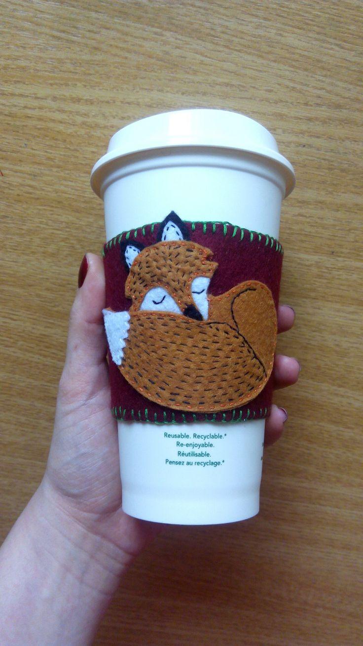 fox, flice, cup, coffee, cupwarmer