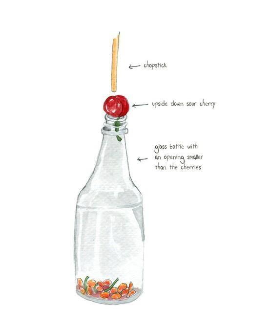 Easy way to pit cherries OurWellnessRevolution.com