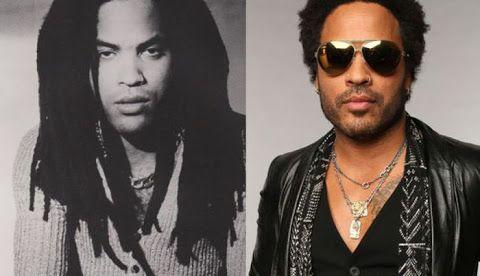 pop stars annees 90 avant apres lenny kravitz   Pop Stars années 90 avant après   vieillissement stars star photo image célébrité avant après