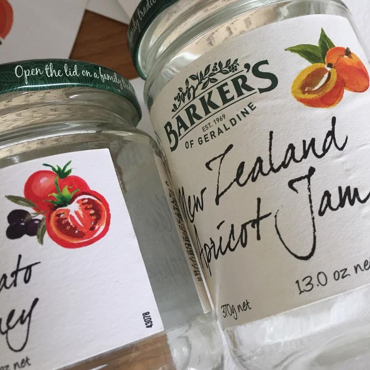 3. My watercolours on labels for @barkersofgeraldine #relish #jam #design #packaging #illustration #chutney #condement #preserve