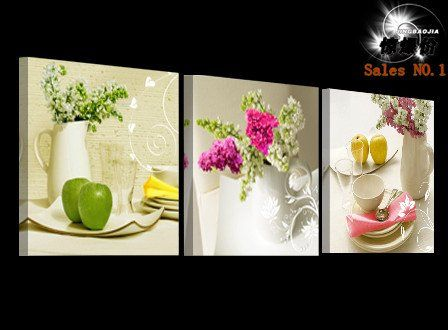 Fruit And Floral 3 Panel Kitchen Wall Art