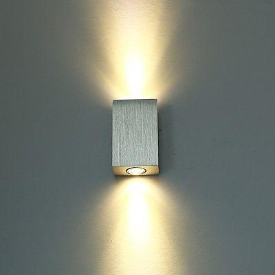 6W LED Wandlampe Warmweiß Wandstrahler Flurlampe Lampe Innen Wandleuchte Effekt in Möbel & Wohnen, Beleuchtung, Wandleuchten | eBay