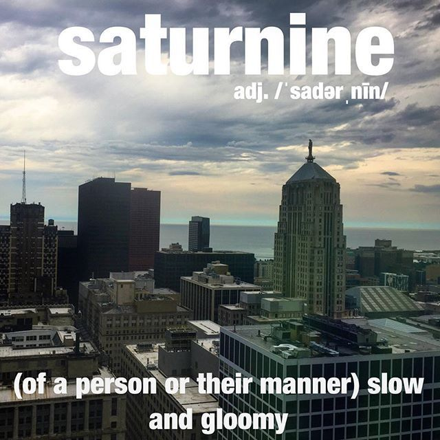 Her saturnine disposition was directly related to the stormy morning weather.