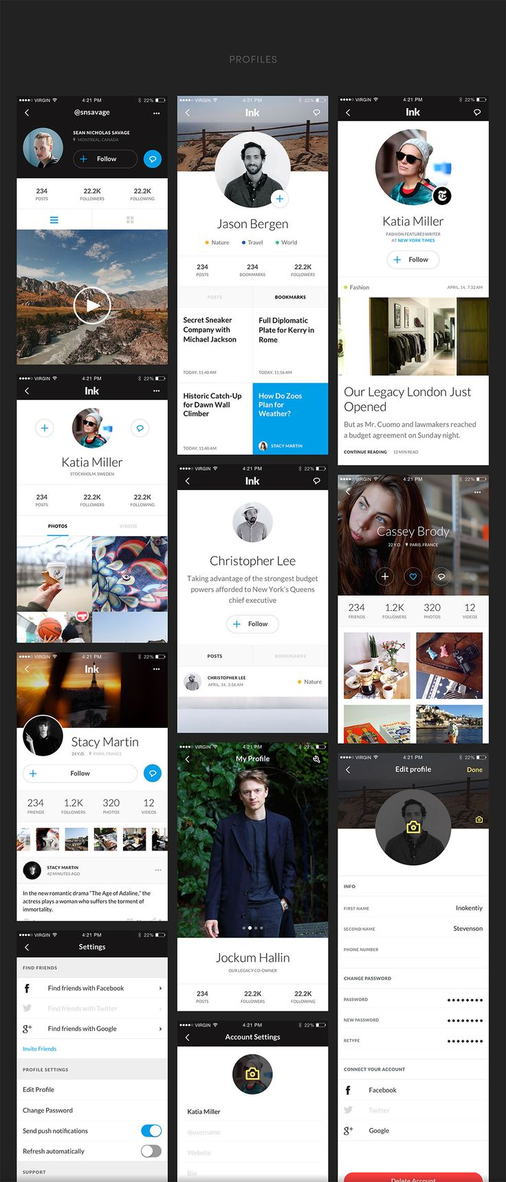 The Ink iOS Mobile UI Kit is a tool designed to help you create design apps and prototypes faster and easier than ever. The key feature of this kit is represented by its 150+ templates. These are high-quality, completely customizable screens organized into 7 convenient categories. These highly attractive and innovative Photoshop and Sketch formatted …