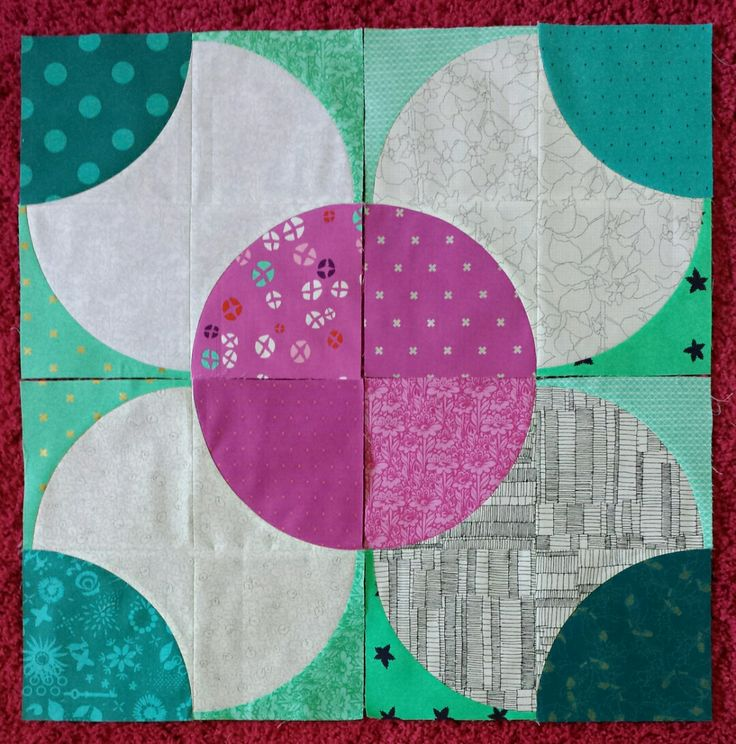 The Fizzy block - free tutorial, amazing repeat across a whole quilt!