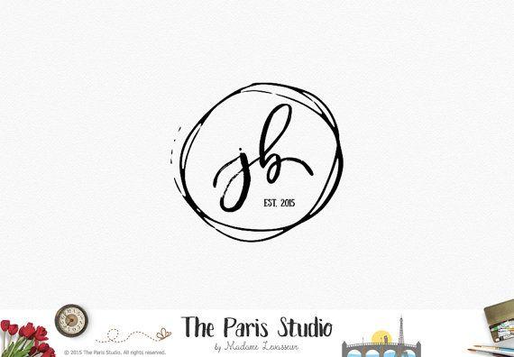 SALE Handwriting Logo Design Typographic Logo Monogram Logo Etsy Shop Logo