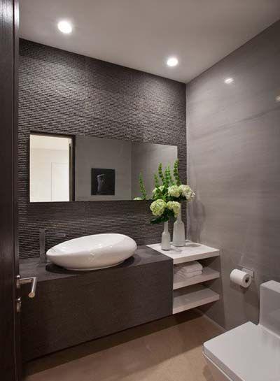 15 hermosos cuartos de ba o modernos insp rate for Murales para banos modernos