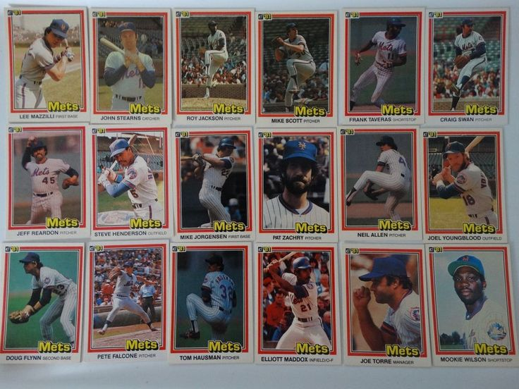 1981 Donruss New York Mets Team Set of 18 Baseball Cards #NewYorkMets