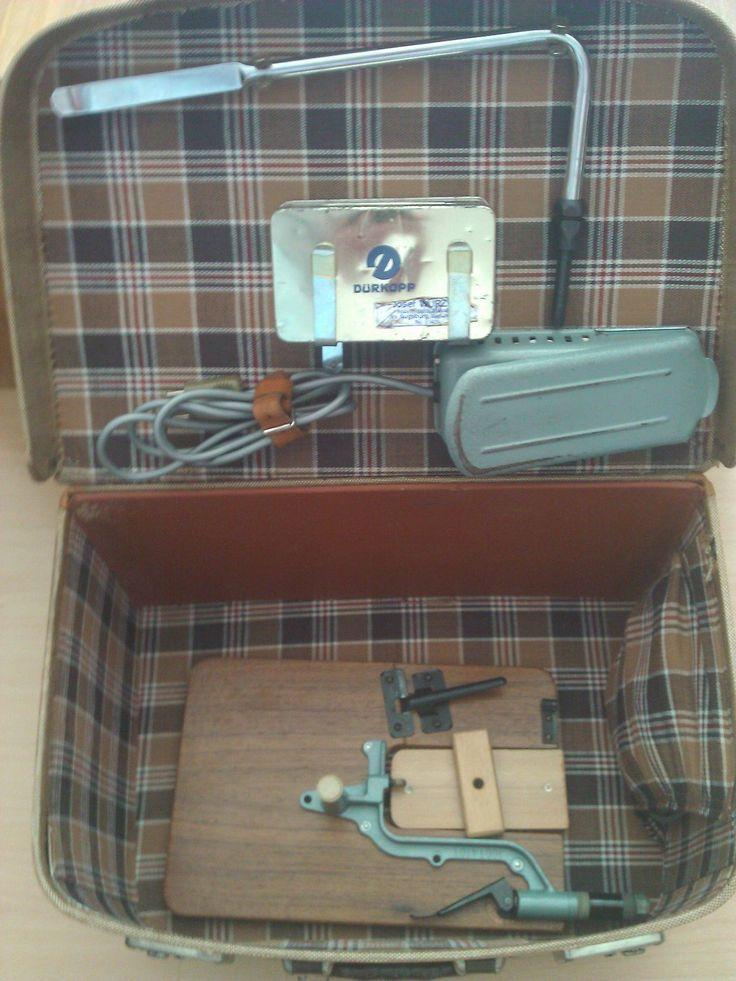 Rarität! Dürkopp 1001 Industrienähmaschine Nähmaschine gebraucht mit Koffer | eBay